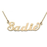 Nameplate Necklace, Gold or Silver Plated $248